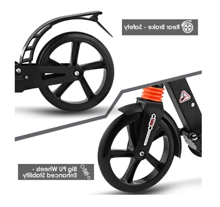 foldable scooter adults capacity 220lb Height Adjustable & Rear