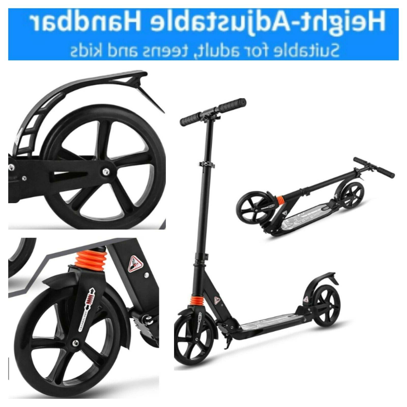 foldable scooter adults capacity 220lb height adjustable