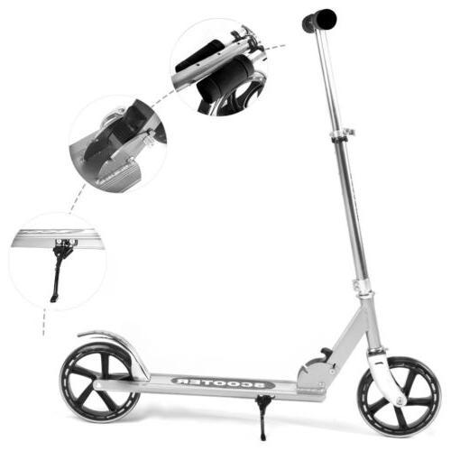 Folding Scooter Level Big Wheels Outdoor Adult Kids