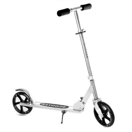 Folding Kick Scooter Level Big Wheels Outdoor Adult Kids