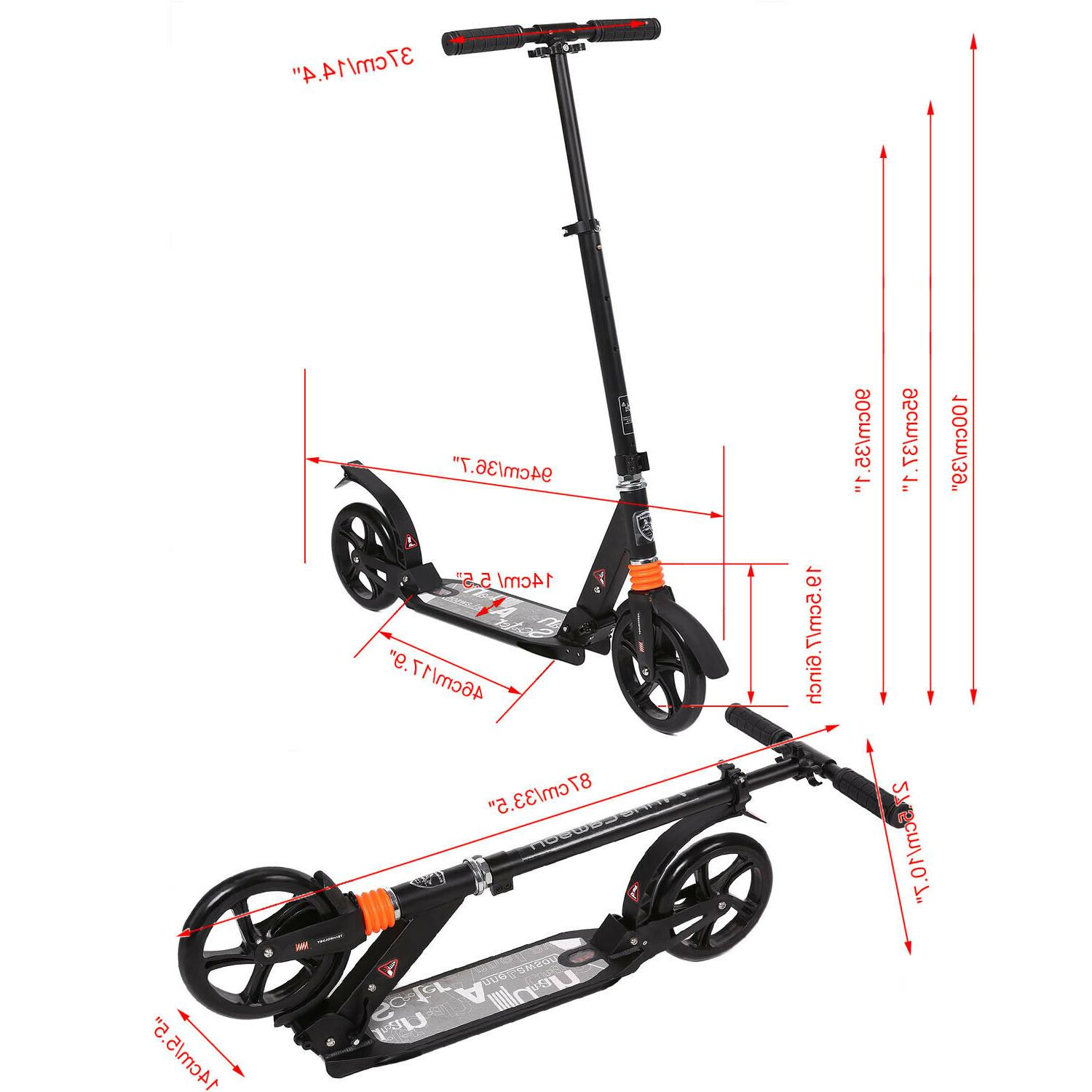 Ancheer Foldable Kick Scooter T-Style Black USA