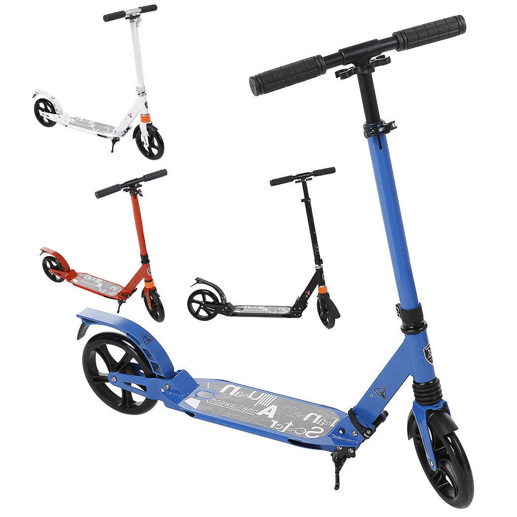"""Adult Kick Scooter Sturdy Foldable T-Style 35-39"""" Adjustable"""
