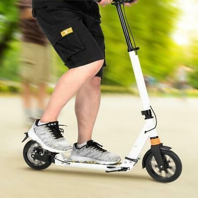Fold Adult Kids Kick Scooter Trick Stunt Outdoor Ride Lightweight Aluminum White