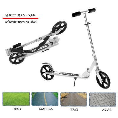 Folding Kick Scooter Adult Kids Wheels Adjustable