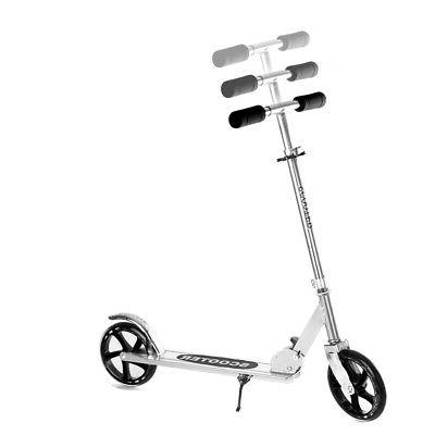Folding Kick Adult Kids 2-200mm PU Wheels Silver