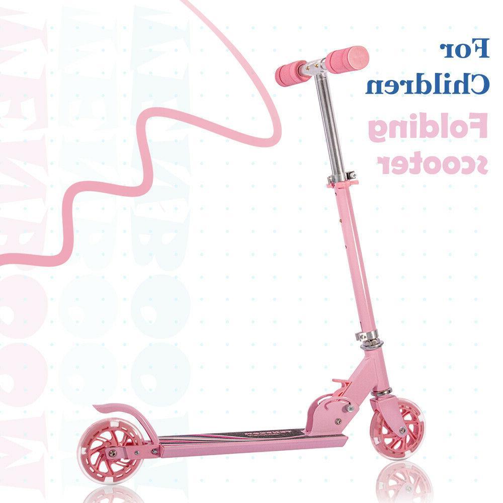 Folding Kick Scooter for Kids Adult Sport Portable Adjustabl
