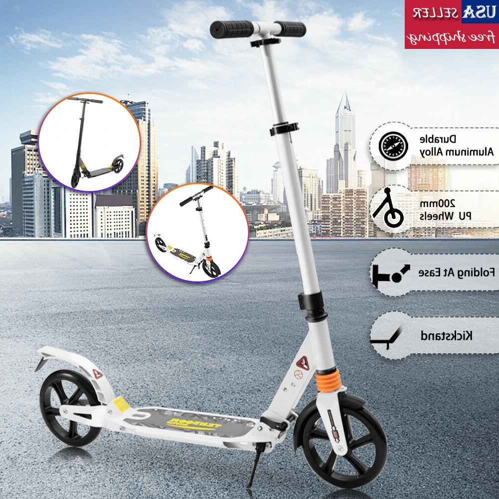 folding kick scooter outdoor adult ride portable