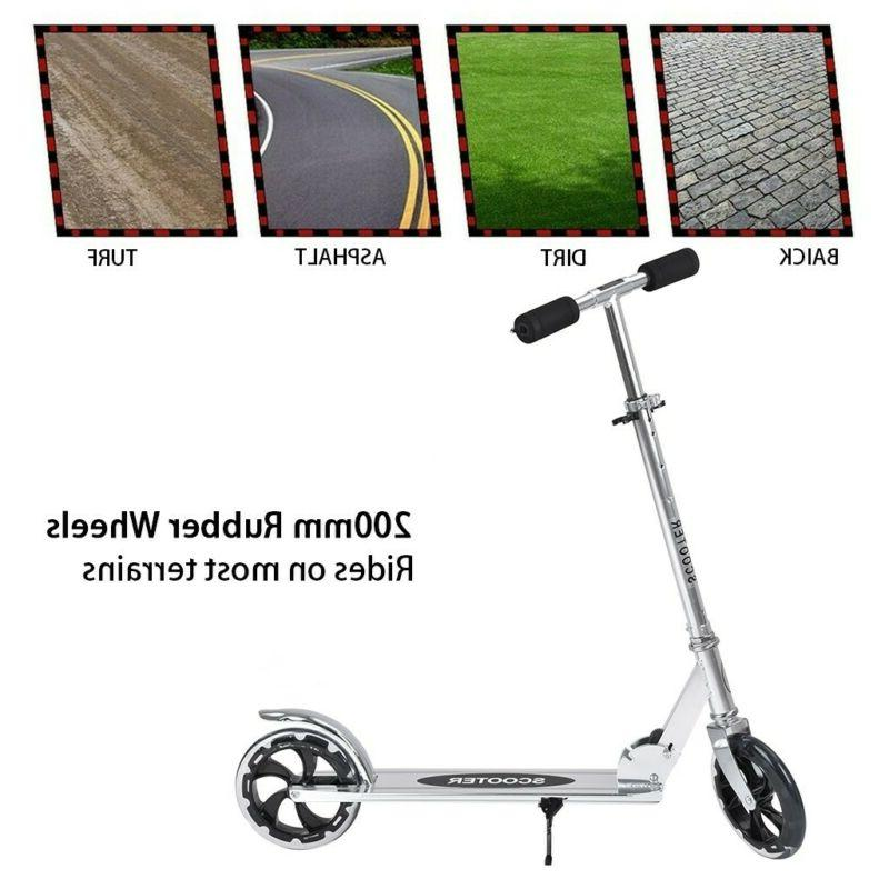 Adult Kids Scooter Sturdy Portable 200mm Wheels New