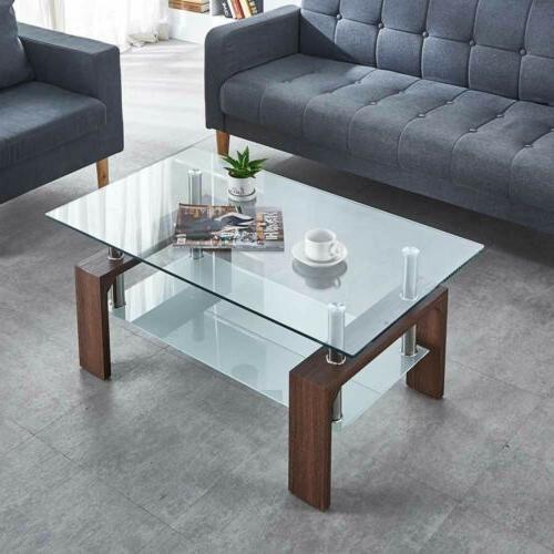 Modern Coffee Glass Living Room