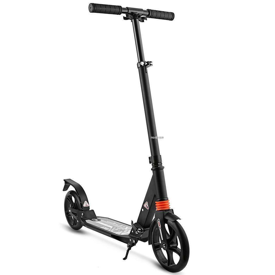 Folding Kick Scooter Sport Wheel Adjustable Ride Exercise Pl