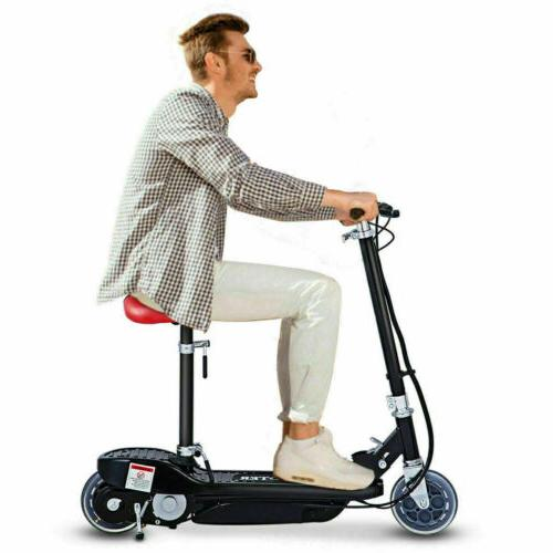 Folding Rechargeable High-Torque Scooter w/Seat