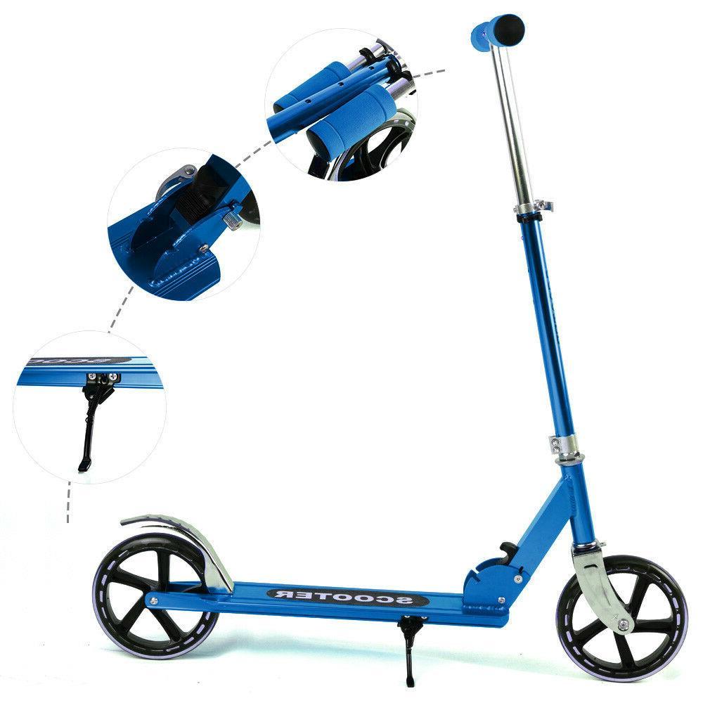 BLUE Folding Portable Adjustable Kick Scooter Kids/Adult