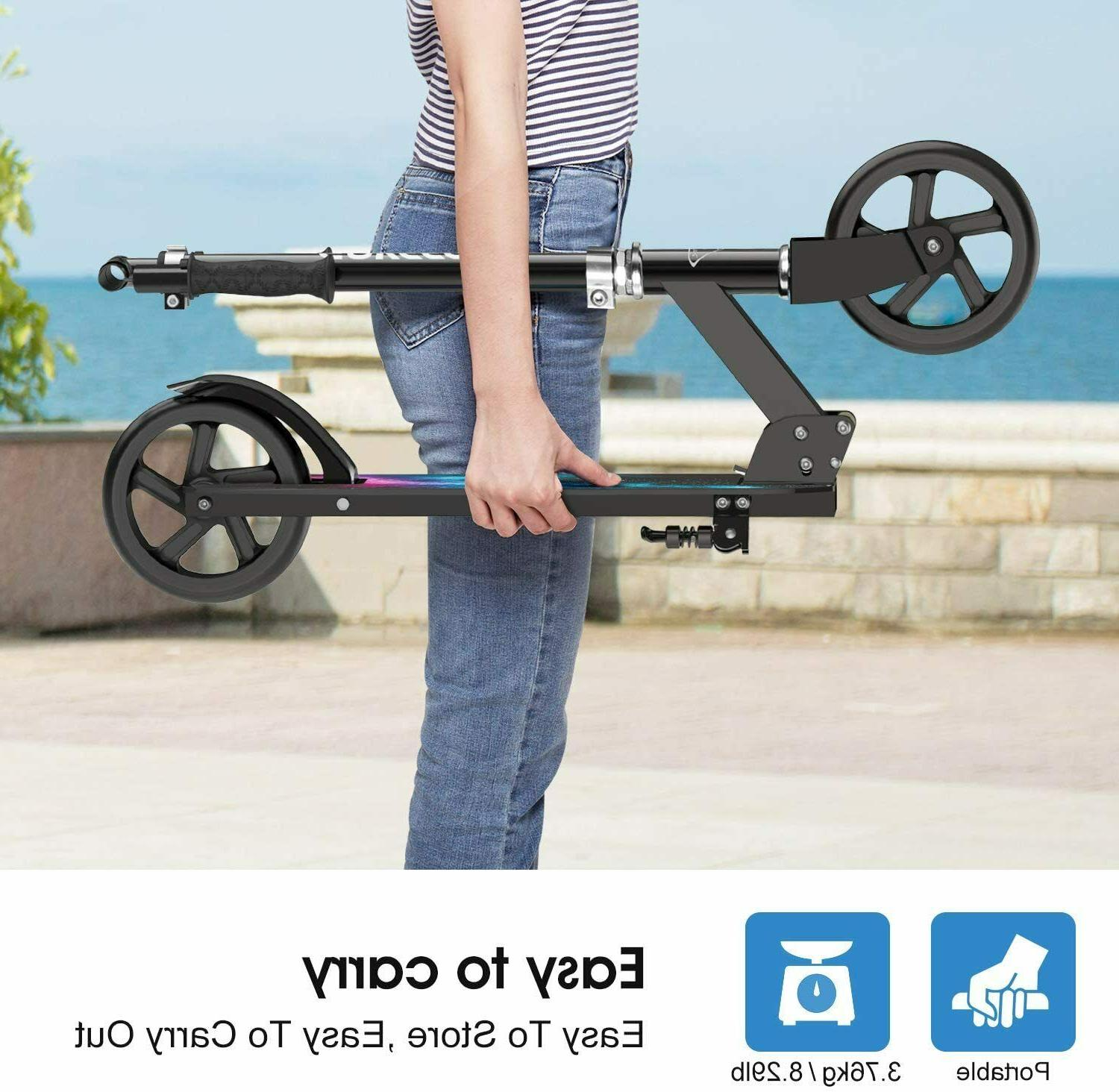 ENKEEO Kick Scooters 220 lbs for Adults
