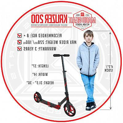 Kids Scooter Large Wheel Height Folding Ride