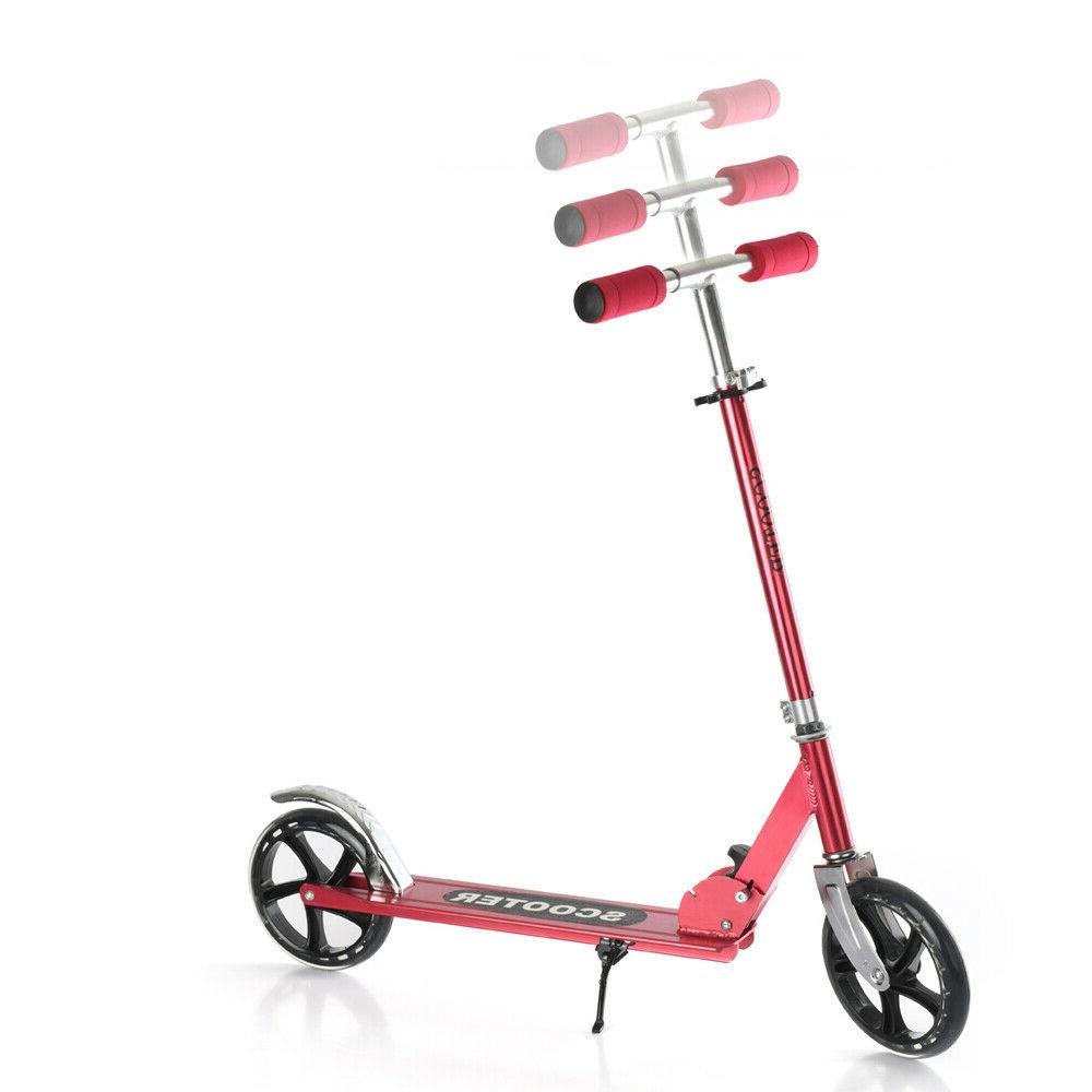RED Aluminum Scooter Adjustable Ride Kids