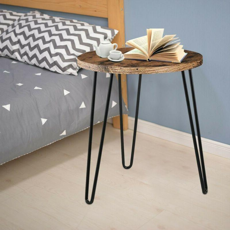 Simple Round Iron Table Retro End Home - US❤