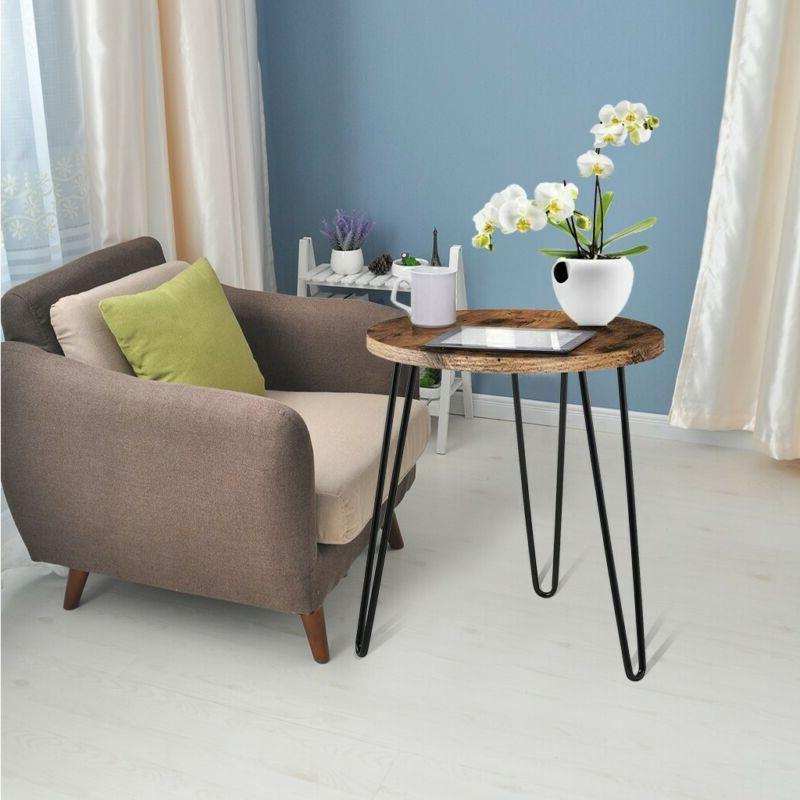 Simple Round Iron Table Home US❤