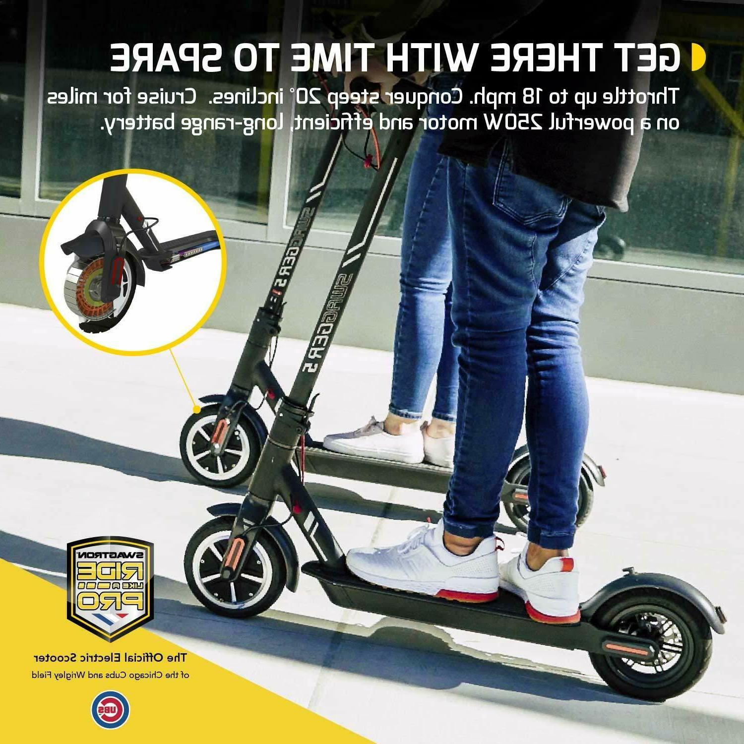 "Swagtron Electric Scooter 8.5"" Cruise Control"