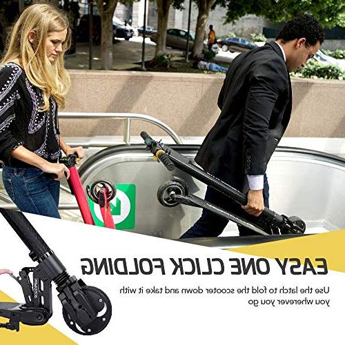 Swagtron Swagger Electric Scooter with Extended Range, Fiber