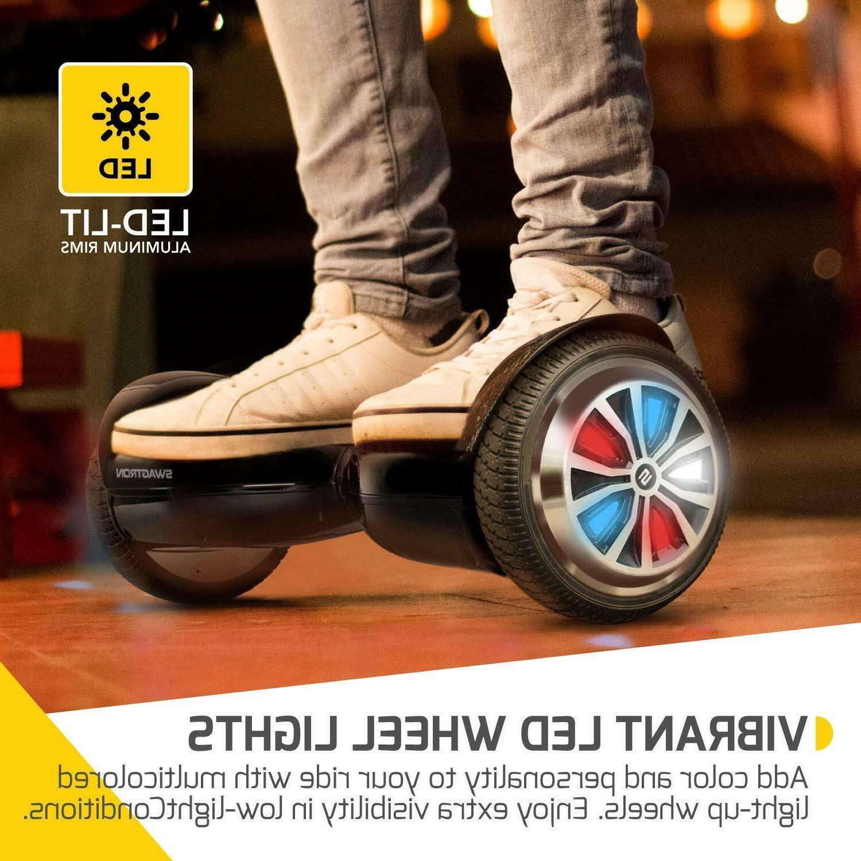 Swagtron Bluetooth LED Wheel Self-Balancing Scooter