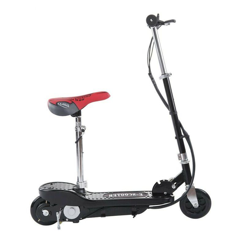 Teens Adult Seated Electric Scooter Motorized Ride W/Seat