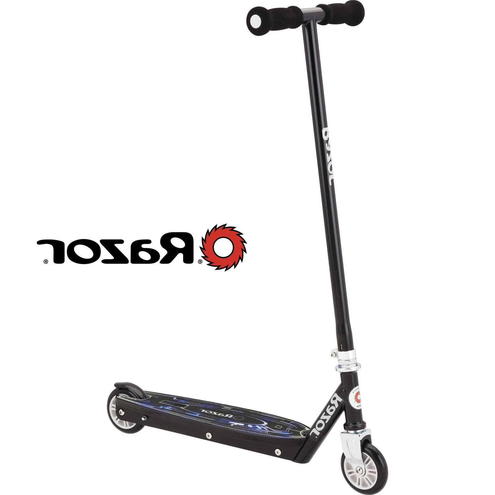 Razor Tekno Kick Scooter Black with Flashing LED Light up De