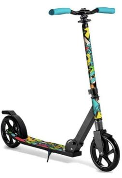 LaScoota Premium Teen Adult Folding Kick Scooter for Age 8 Y