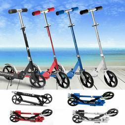 pro adult kids kick scooter adjustable folding