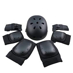 7Pcs Protective Gear Set, Helmet and Pads of Wrist, Elbow, K
