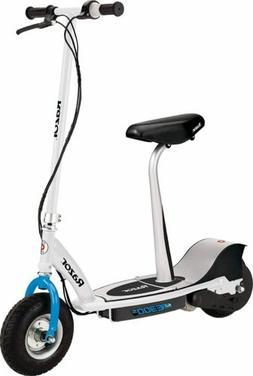 Razor E300S Seated Electric Scooter - White/Blue