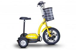 E-Wheels Stand/Ride Mobility Scooter with Folding tiller in