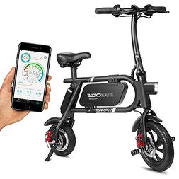 SwagCycle Pro Folding Electric Bike, Pedal Free and App Enab