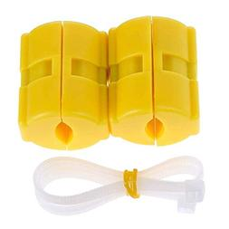 Weite Universal Car Diesel Petrol Fuel Saver, 2pcs Yellow Ma